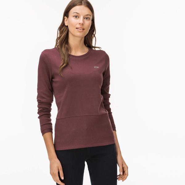 Lacoste Women's Burgundy T-Shirt
