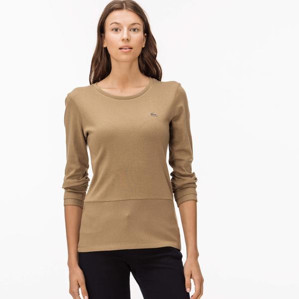 Lacoste Women's Beige T-Shirt