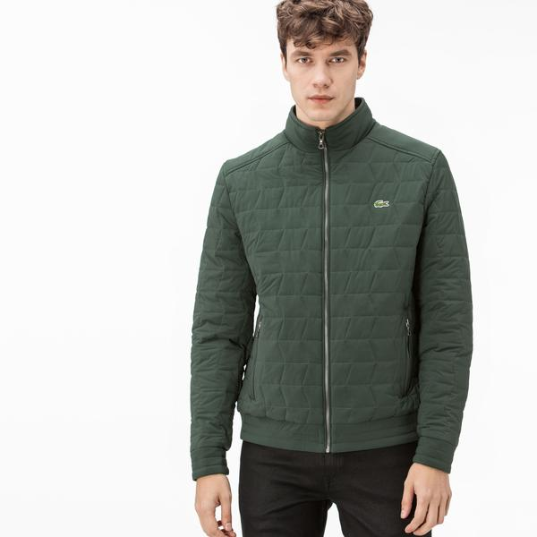 Lacoste Men's Green Quilted Coats