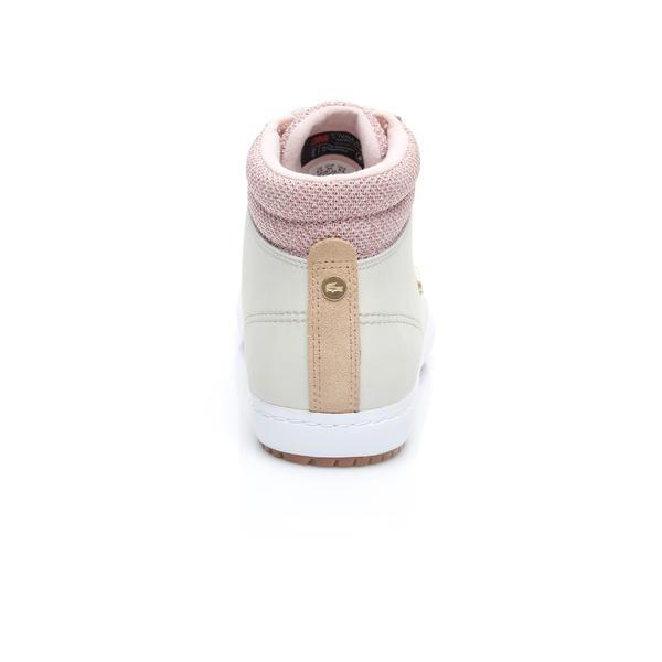 Lacoste Damskie Skórzane Sneakers Straightset