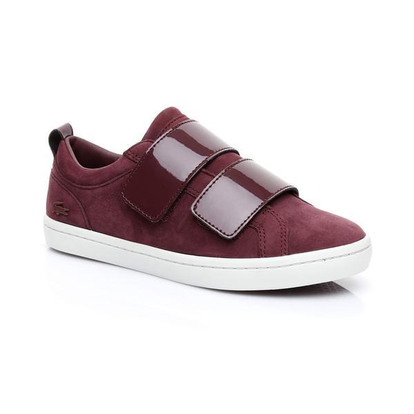 Lacoste Women's Straightset Strap 3181 Bordeaux Sneaker