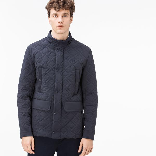 Lacoste Men's Navy Quilted Coat