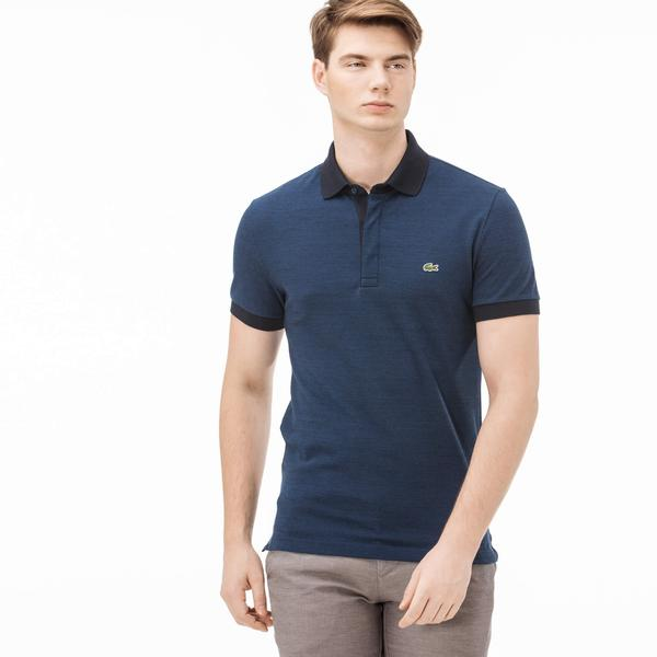 Lacoste Men's Navy Blue Slim Fit Polo