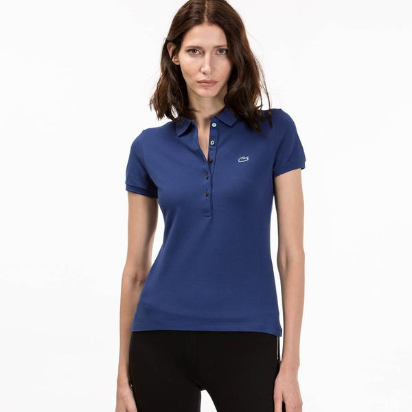 Lacoste Women's Blue Slim Fit Polo