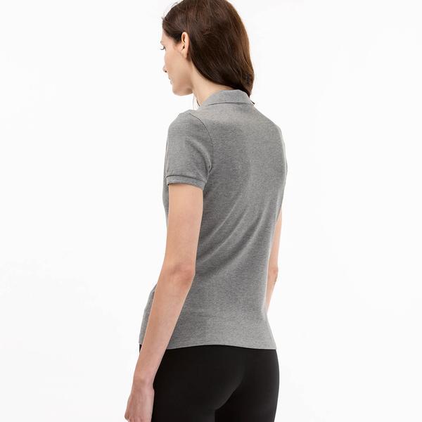 Lacoste Women's Gray Slim Fit Polo