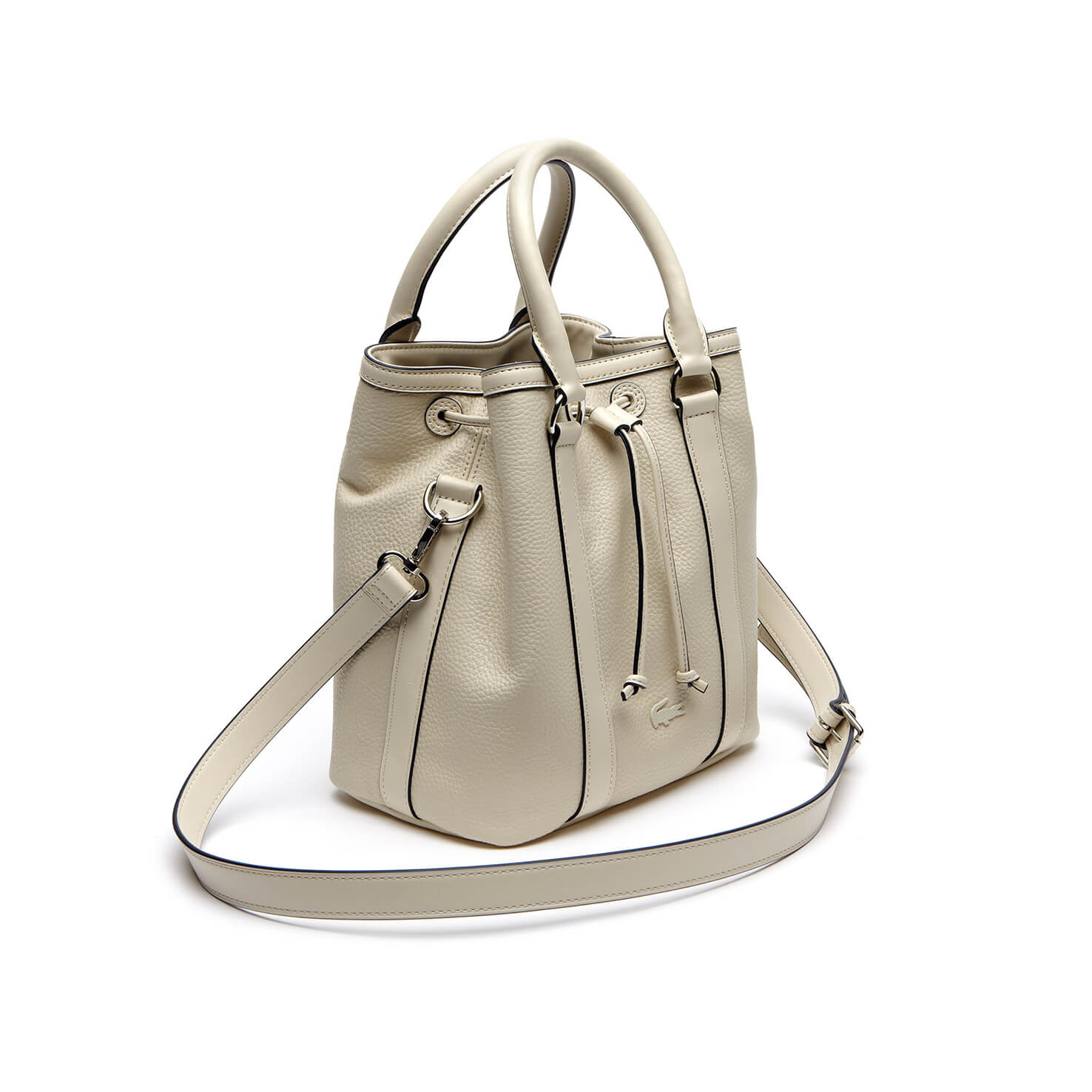 Lacoste Leather Cream Bag
