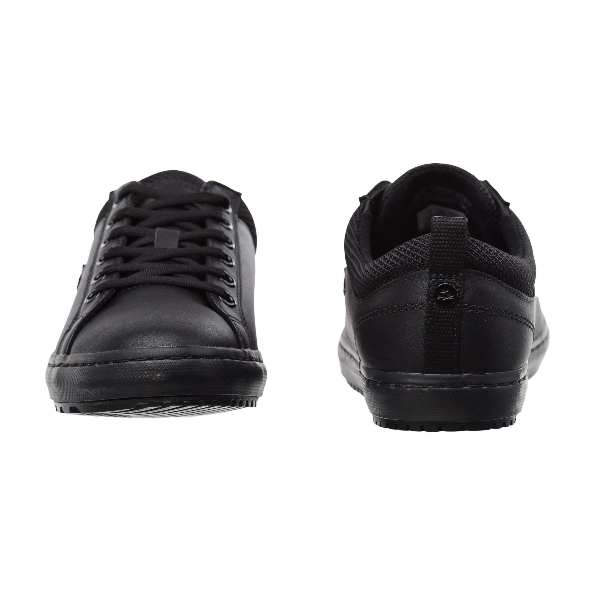 Lacoste Women's Straightset Insulate 3182 Black Sneaker