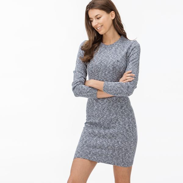 Lacoste Damska Niebieska Sukienka