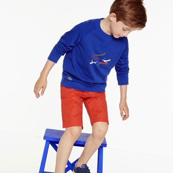 Lacoste Chłopięca bluza z mieszanki czesanej, pikowanej bawełny