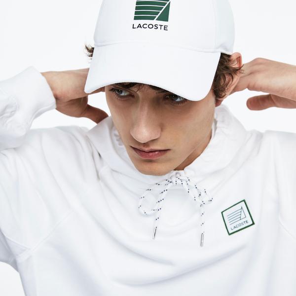Lacoste Męska czapka z jednokolorowej, pikowanej bawełny