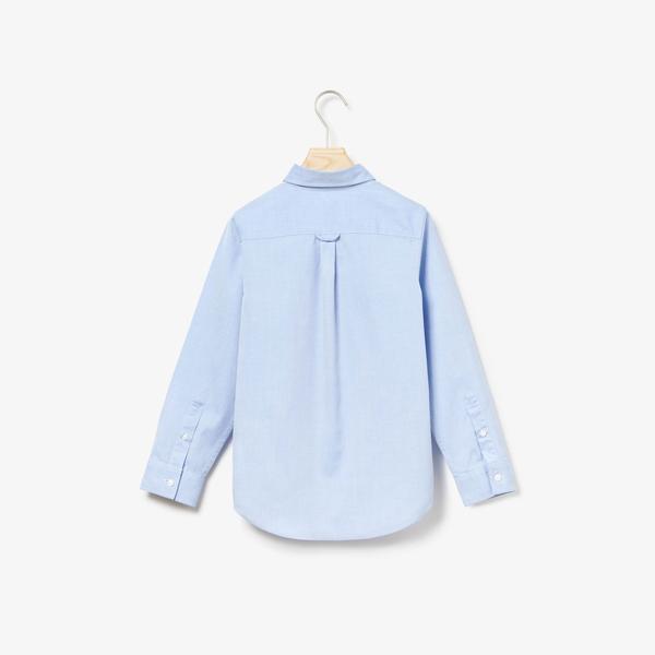 Lacoste Tkana Koszula Z Długim Rękawem Dla Dzieci